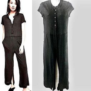 Free People Beach NWOT Stand By Button Front Jumpsuit, XS